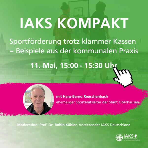 "IAKS Kompakt: ""Sportförderung trotz klammer Kassen"""