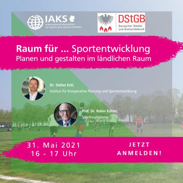 """Online Seminar: """"Raum für Sportentwicklung im ländlichen Raum"""""""